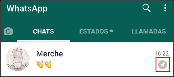 chat fijado en WhatsApp