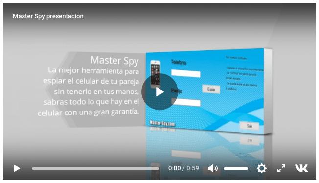 vídeo de presentación de Master Spy