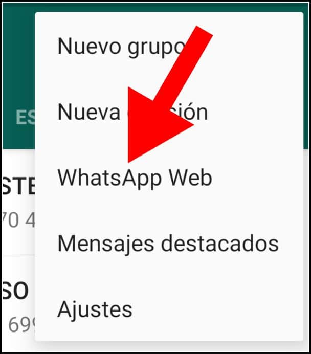 WhatsApp Web en el móvil
