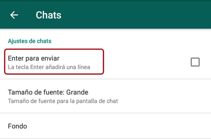 Cómo aumentar el tamaño de la letra en WhatsApp