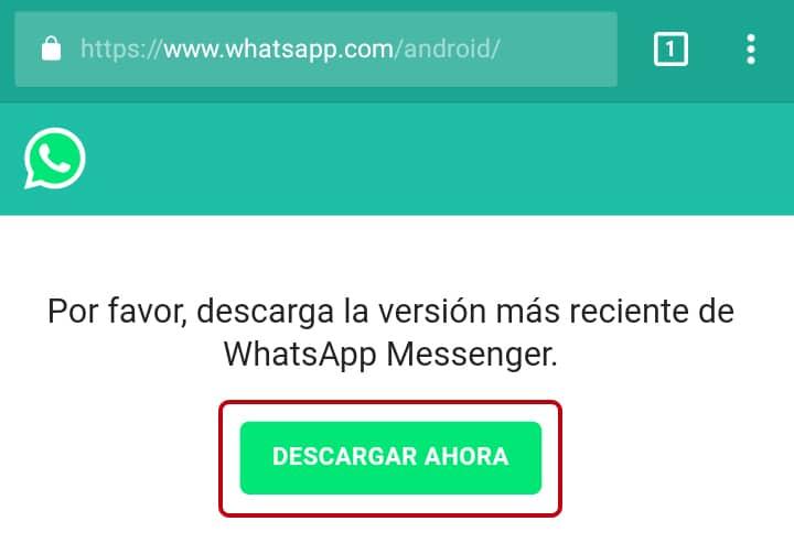Instalar WhatsApp sin Play Store