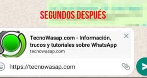 WhatsApp: cómo mostrar una imagen de la web junto al enlace enviado
