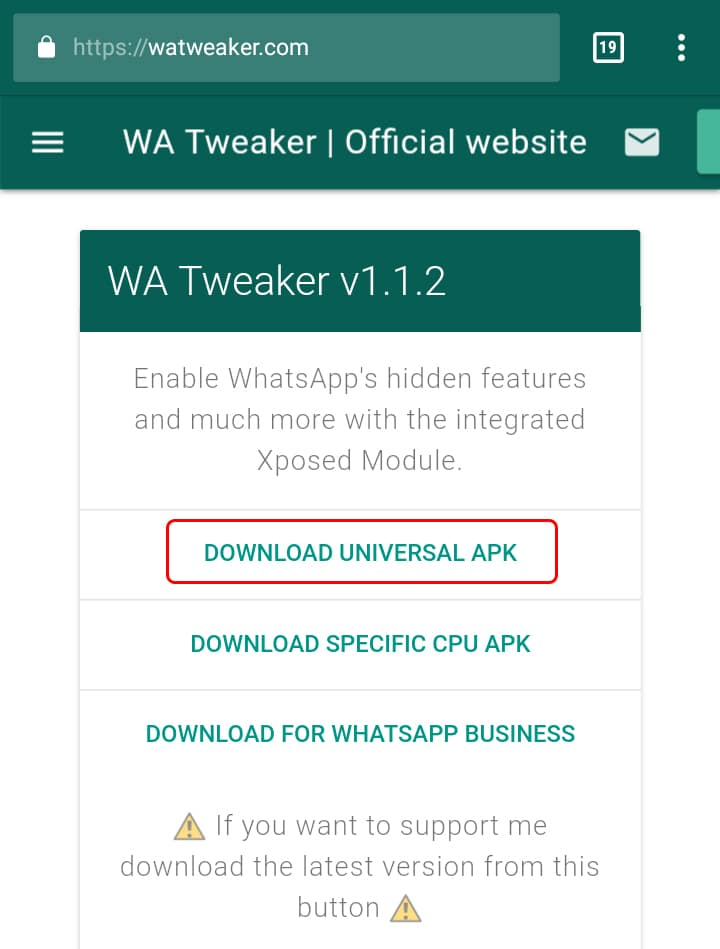 Descargar WA Tweaker 1.1.1 APK (Julio 2018)