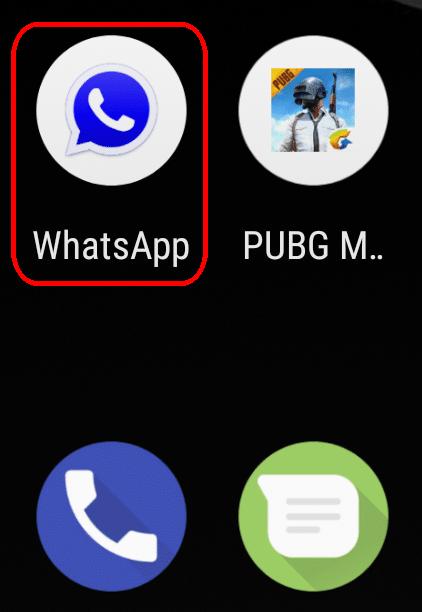 icono de GBWhatsApp Mini en las apps