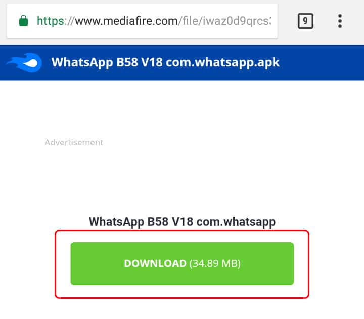 Cómo descargar WhatsApp B58 MiNi V18 APK
