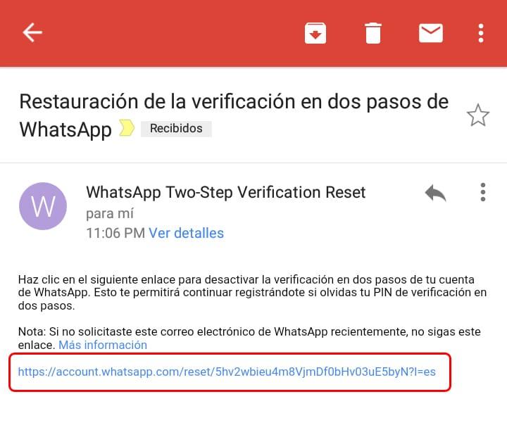 Verificación en dos pasos WhatsApp, olvidé PIN: Solución