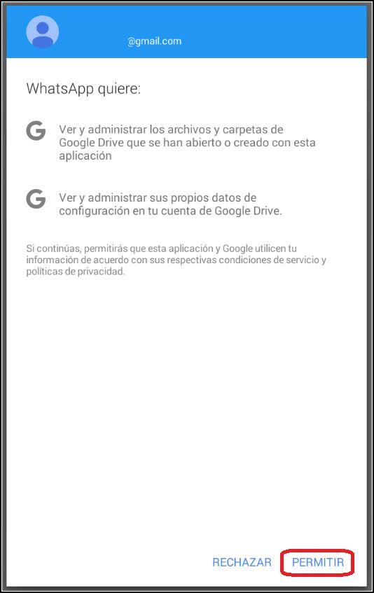 Acceso copias de seguridad de Gmail