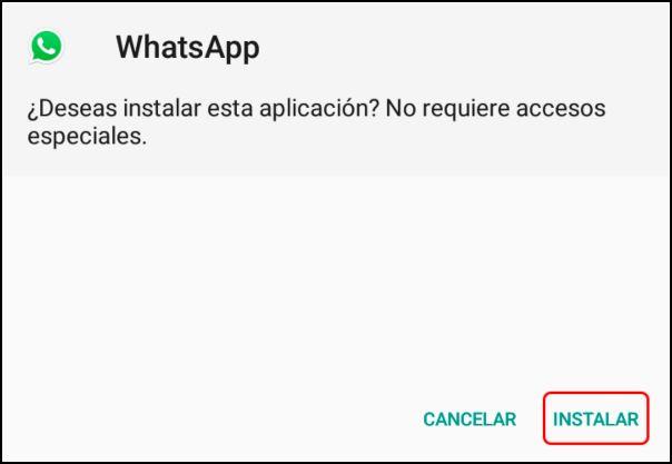 instalar WhatsApp Transparente