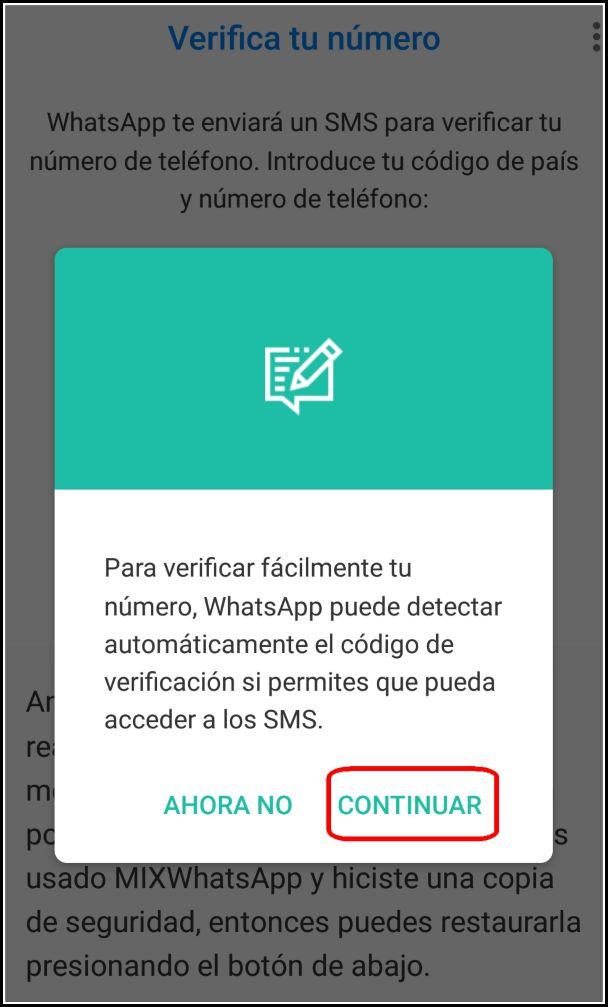 Acceso SMS