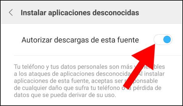 autorizar descargas Chrome