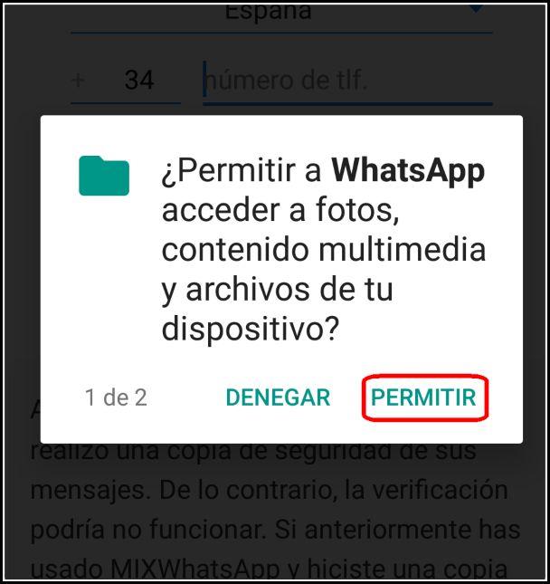 conceder permisos multimedia WAMIX