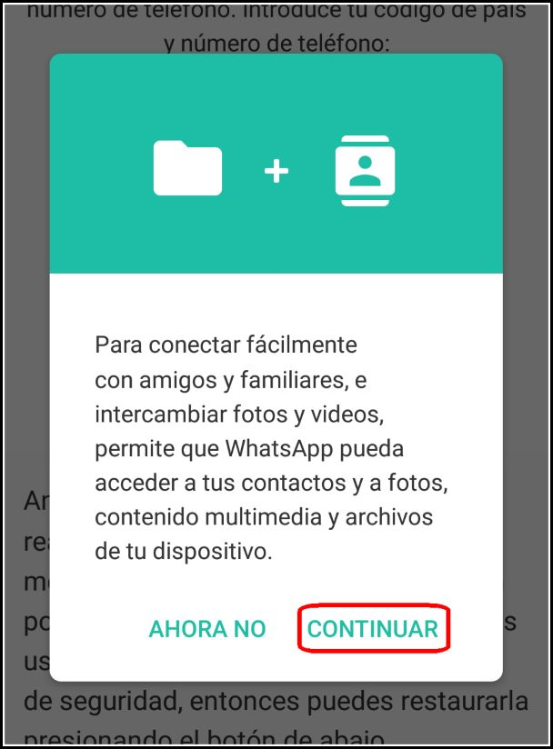 permiso multimedia WhatsApp Mix