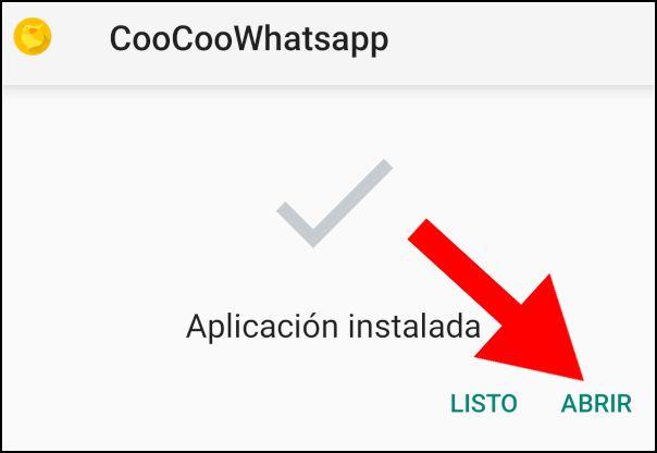 coo coo whatsapp instalada