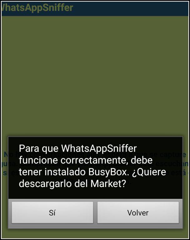 WhatsApp Sniffer Busybox