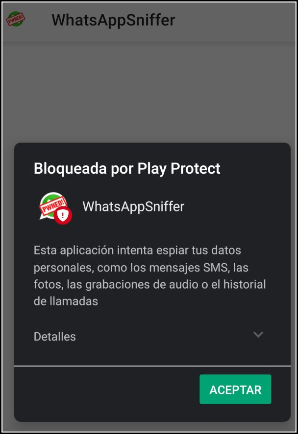 WhatsApp Sniffer Play Protect